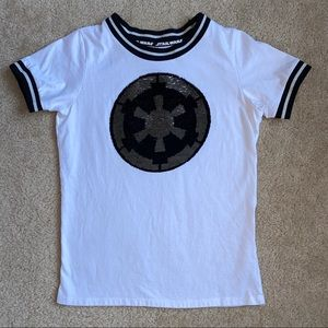 Star Wars Sequence Logo White T-shirt